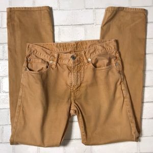 American Eagle AE Jeans Tan Slim Straight 29x30
